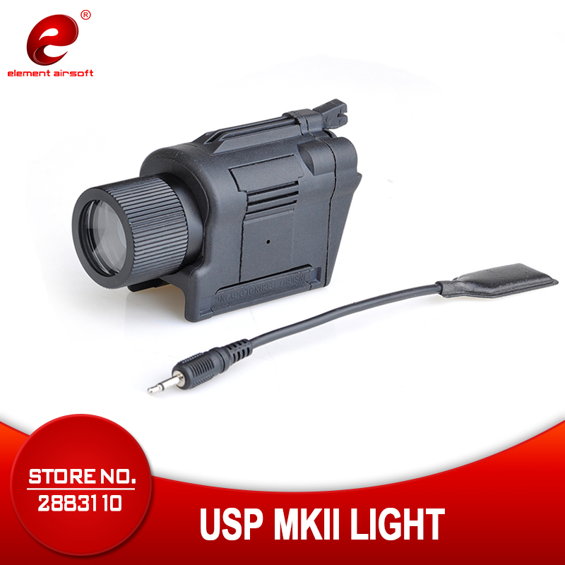 Element Airsoft тактический фонарь вспышка светильник USP MkII пистолет светильник 220 люмен светильник пистолет Фонари Книги об оружии светильник EX365