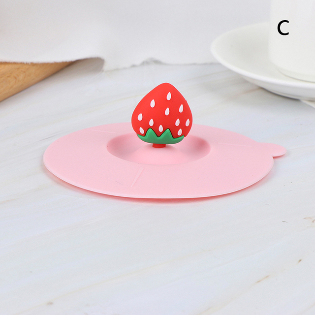 Cute Butterfly Silicone Cup Lids Anti-dust Leakproof Mugs Cover #w