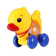 Pull-Rope for Kid Handbell Rattle Jingle Duck-Animal Music Baby