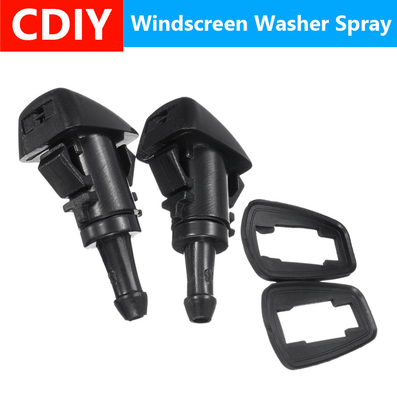 1Pair Car Front Windshield Wiper Water Spray Washer and Rubber Gaskets For Mitsubishi Eclipse 06-12