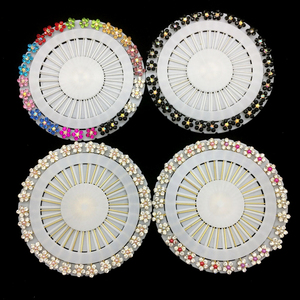 New Hijab Pins Up 30PCS Flower Crystal Arabic Muslim Hijab Brooches Pin For Women Safety Head Scarf Pins Mix Color