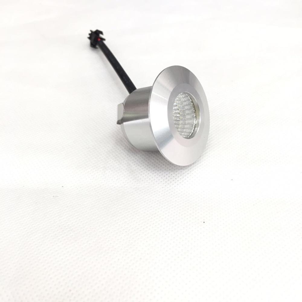 1 Stück 40mm diameter silver body 3 W LED Mini Einbauleuchte Round verstellbarer Spot Deckenlampe 95-265 V LED-Schrankleuchte