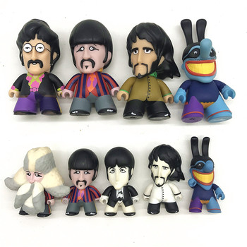 The band Collectible JOHN LENNON/ GEORGE HARRISON/ RINGO STARR/ BLUE MEANIE model toy ringo starr a coruña