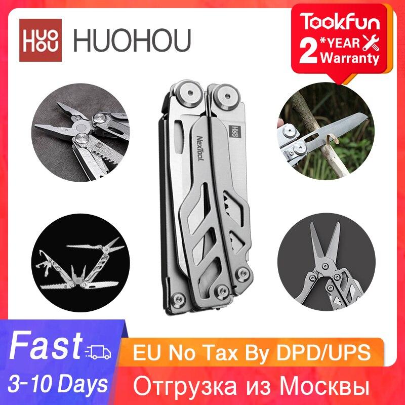 Лидирующий бренд HUOHOU Портативный мульти-Функция Многофункциональный складной нож инструмент, инструменты для выживания в диких условиях б...