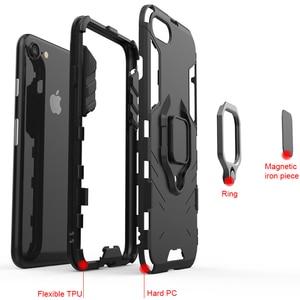 Image 5 - Kisscase caso para huawei honor 10 6x 8x max armadura casos titular capa do telefone para huawei y9 2019 p20 p30 pro lite coque