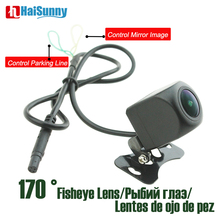 Car Rear Backup Camera Fisheye lens HD Mirror Image 4 Pin No Parking Line Waterproof 170 Degree Wide View Angle Night Vision
