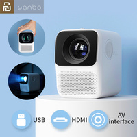 #Global Version# Wanbo T2 Free Projector Portable LCD Mini LED Support 1080P Vertical Correction Mini Home Theater Projector