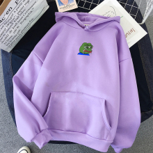 Толстовки с принтом «Sad Tearing Frog» для мужчин/женщин, толстовки с капюшоном в стиле Харадзюку, толстовки с капюшоном в стиле хип-хоп, мужская Японская уличная одежда с капюшоном