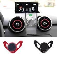 Suporte do carro magnético para audi a1 clipe de ventilação ar montagem metal suporte 360 graus rotativo smartphone gps suporte para iphone huawei