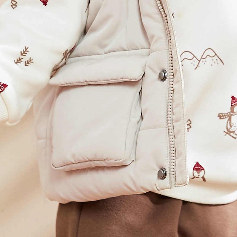 Minibalabala תינוק אפוד בני תינוק בתוספת קטיפה בגדים חמים 2019 חורף חדש ברדס אפוד