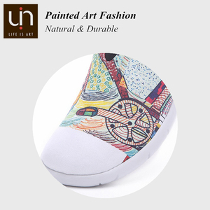 Image 3 - UIN Wheel Design Painted Canvas Shoes Women Trendy Slip on Loafers Ladies Travel Flats Fashion Sneaker