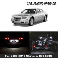 17x Canbusข้อผิดพลาดสีขาวฟรีLedภายในแพคเกจชุดสำหรับ2005 2010 Chrysler 300 300Cแผนที่โดมใบอนุญาตแผ่นหลอดไฟ