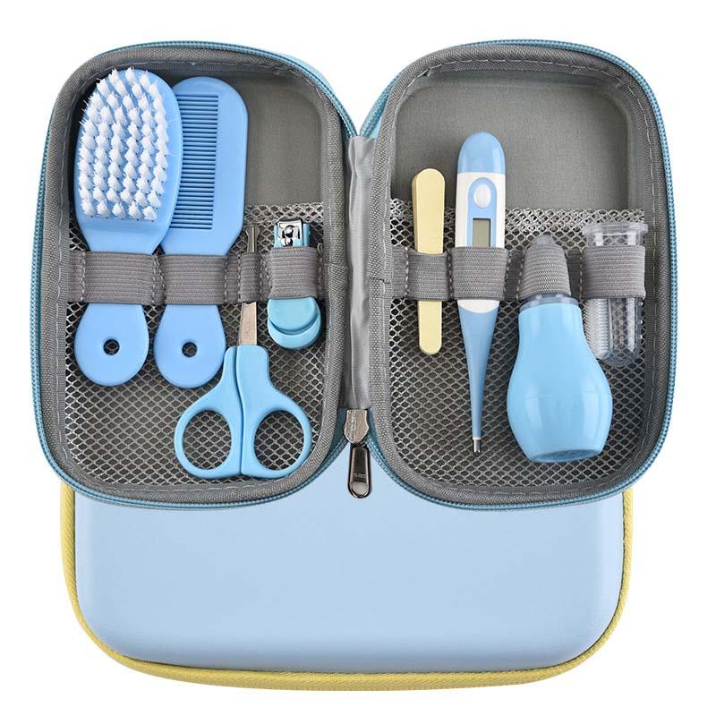 8pcs/set Baby Nail Scissors Clipper Portable Infant Child Healthcare Tools Set Newborn Nail Clipper Nasal Aspirator Toddler Gift