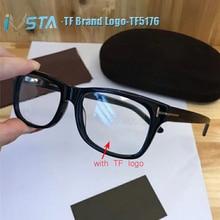 IVSTA TF 5176 with logo Real Handmade Acetate Spectacle Frame Glasses Men Luxury Brand Optical Prescription Women Tom 5040 5147