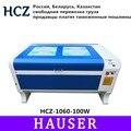 Бесплатная доставка Россия HCZ 100 Вт Лазерный 1060 CO2 лазерный гравировальный станок для лазерной резки 1000*600 мм 80 Вт фрезерный станок с ЧПУ DIY