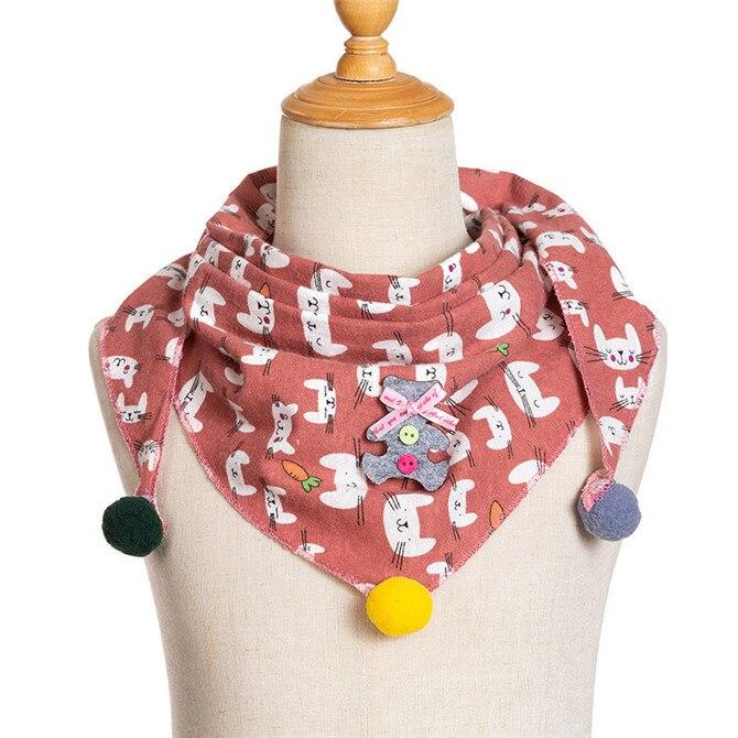 Весенние клетчатые треугольные шарфы в горошек для маленьких девочек; осенне-зимняя шаль для мальчиков и девочек; Детские хлопковые воротники; теплый детский шейный платок - Цвет: C17
