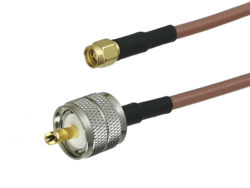 1Pcs RG142 UHF PL259 Male plug to SMA Male Plug Straight Connector RF Coaxial Jumper Pigtail Cable 6inch~10M