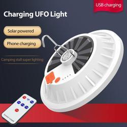 60/120LED Portable lanterne en plein air Camping lampe ampoule LED Rechargeable LED ampoule lampe télécommande solaire Charge d'urgence nuit marché