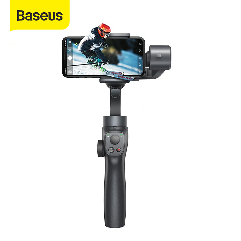 Baseus 3-Axis Handheld Gimbal Stabilizer Bluetooth Selfie Stick Outdoor Holder W/Focus Pull & Zoom For IPhone Action Camera