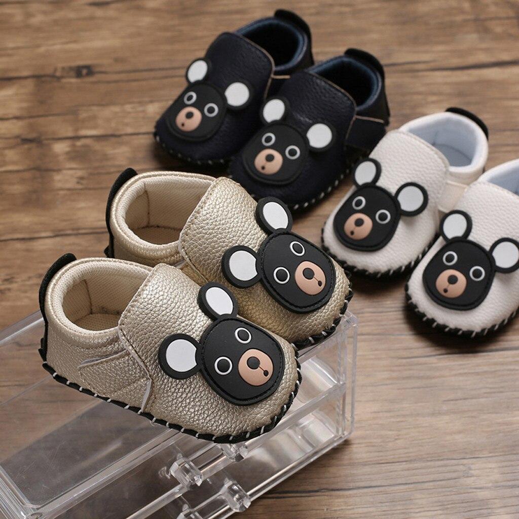 DE Neugeborenes Baby Weiche Sohle Schuhe Turnschuhe für Kleinkind Jungen Mädchen