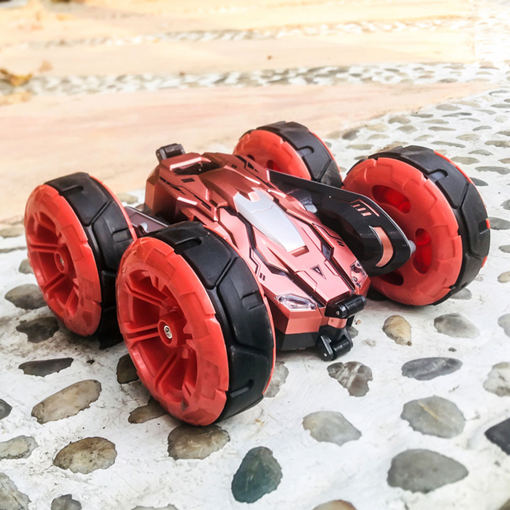 2.4G 4WD Double-Sided Stunt Car 360 Rotating Children Drift Stunt Deformation Remote Control RC Car Creative Funny Toys for Kid