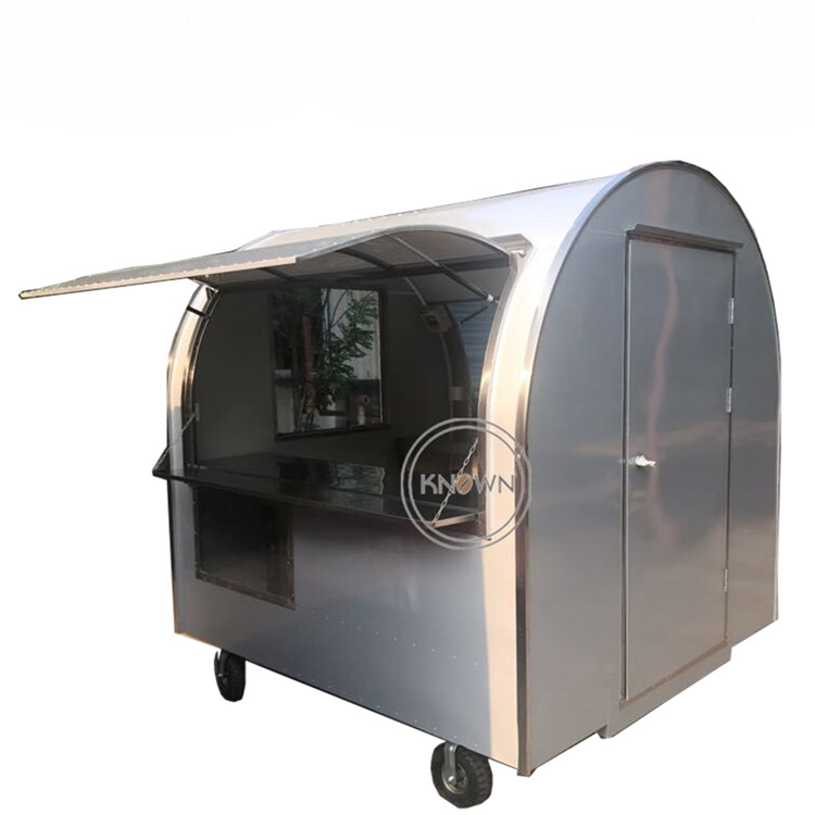 Mobile Double Windows Food Cart With Different Colors For Sale/ice Cream Food Trailer