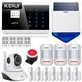 KERUI 433 МГц Беспроводной GSM PSTN безопасности системы сигнализации дома Android IOS APP пульт дистанционного управления 850/900/1800/1900 МГц