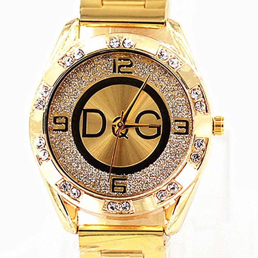 Zegarek Damski New DQG Fashion Brand Luxury Watch Crystal Quartz Female Watch Gold Silver Stainless Steel Ladies Dress Watch