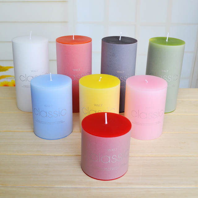 (6 pieces 3 size) Amazing Cylinder Model Candle for Wedding Party Candles Decor Party Gifts Craft Fragrant Wax Smokeless Cheap