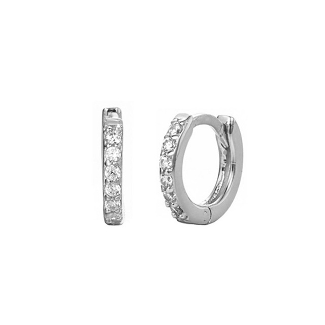 2 Pcs bag Labret Piercing Helix Cartilage Small Hoop Earring Crystal Cz Hoops Huggie Silver Color.jpg 640x640 - 2 Pcs/bag Labret Piercing Helix Cartilage Small Hoop Earring Crystal Cz Hoops Huggie Silver Color Female Gold Earing Jewelry