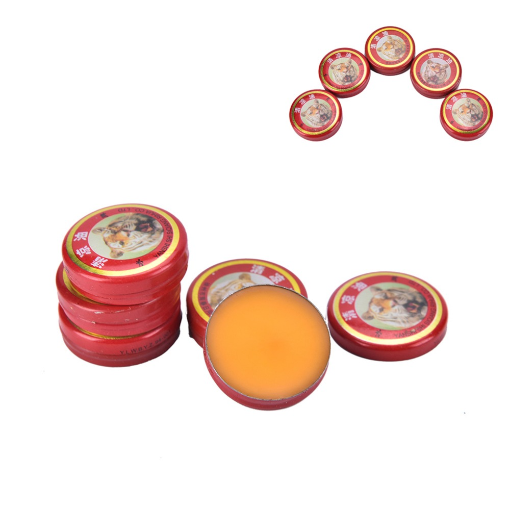 5PCS Chinese Tiger Balm Pain Relief Ointment Massage Red Muscle Rub Aches Cool Cream Essential Oil For Adults QingLiangYou