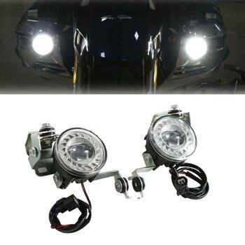 цены Motorcycle LED Fog Lights lamp With Attachment Kit For Honda Goldwing 1800 GL1800 2018–2020 2019
