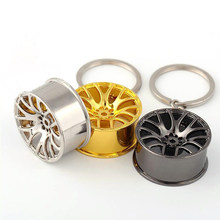 Metal Car Wheel Rim Model Mini Tyre Key Chain Ring for BMW E46 E60 Ford focus 2 Kuga Mazda 3 cx-5 VW Polo Golf Jetta Passat(China)