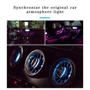 Image 2 - Турбина выход светодиодный свет для W205 GLC Mercedes benz C класса GLC передний Кондиционер Вентиляционный вход центральной консоли атмосферные огни