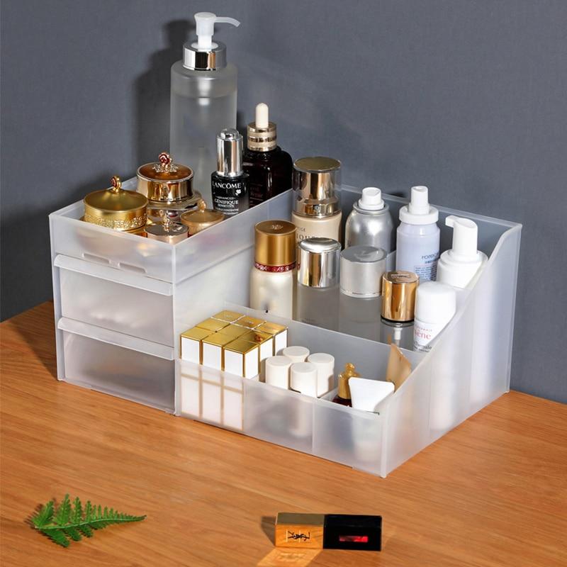 Large Capacity Makeup Organizer Cosmetic Storage Box Drawer Dressing Table Nail Polish Organizer Makeup Box Cosmetic Organizer