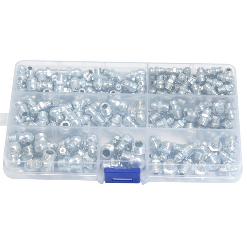 Top Sale145pcs 90 Degree and Straight Type M6 M8 M10 Metric Size Hydraulic Zerk Grease Nipple Fitting JG1977