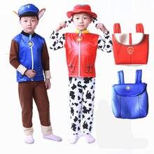Crianças meninos meninas aniversário marshall chase skye cosplay traje patrulha cão crianças perseguição marshall festa traje