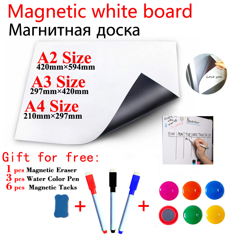 Magnetic WhiteBoard For School Kids Dry Erase White Boards Stickers Home Office Message Boards Magnets Fridge Stickers