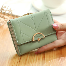Brand New Wallets Fashion Women Wallets Multi-Function High Quality Small Wallet Purse Short Design Three Fold Coin Purse