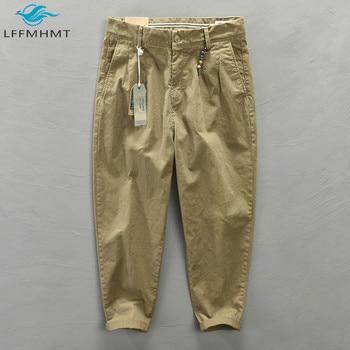Men Autumn Fashion Solid Color Korean Style Harem Pants Male Harajuku Casual Loose Mid Waist Wild Slim Fit Cotton Pencil Trouser - discount item  17% OFF Pants