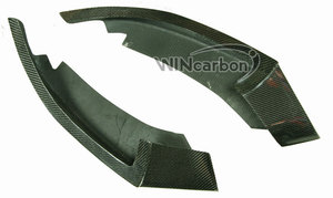 Image 5 - P Style F32 Real Carbon Front Bumper Splitters for BMW F32 M Tech Bumper Only 1pair