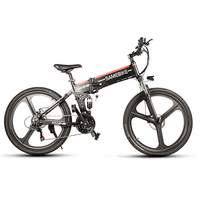 Lixada E Bike LO26 26 Inch Folding Electric Bike Power Assist Foot Pedal Electric Bicycle Conjoined Rim Scooter 48V 350W Motor