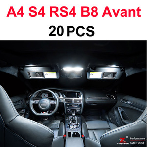 Image 4 - Perfect White Canbus Error Free LED bulb interior dome map overhead light Kit for Audi A4 S4 RS4 B5 B6 B7 B8 ( 1996   2015 )