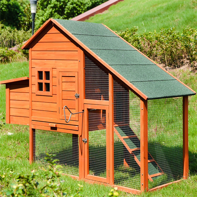 Wooden Pet Rabbit Hutch Warm House Chicken Coop For Small Animals Hamster Cage Chinchillas Hedgehog Accessories Reptile House