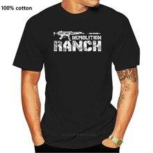 Camiseta de algodón con estampado divertido para hombres y mujeres, camisa con estampado de demolición, rancho, los derechos de los Estados Unidos, brazos, 100%