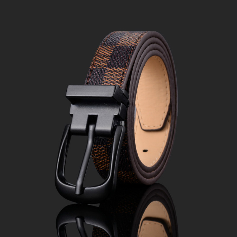 Fashion Man Lady Leather Leisure Belt Luxury Design Metal Pin Buckle High-end Belts Children's Belt Boys Girls Jeans Waistband