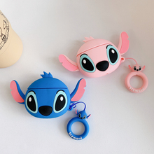 For Airpods 2 Case Silicone Stitch Cartoon Cover for Apple Air pods Cute Earphone Case 3D Headphone