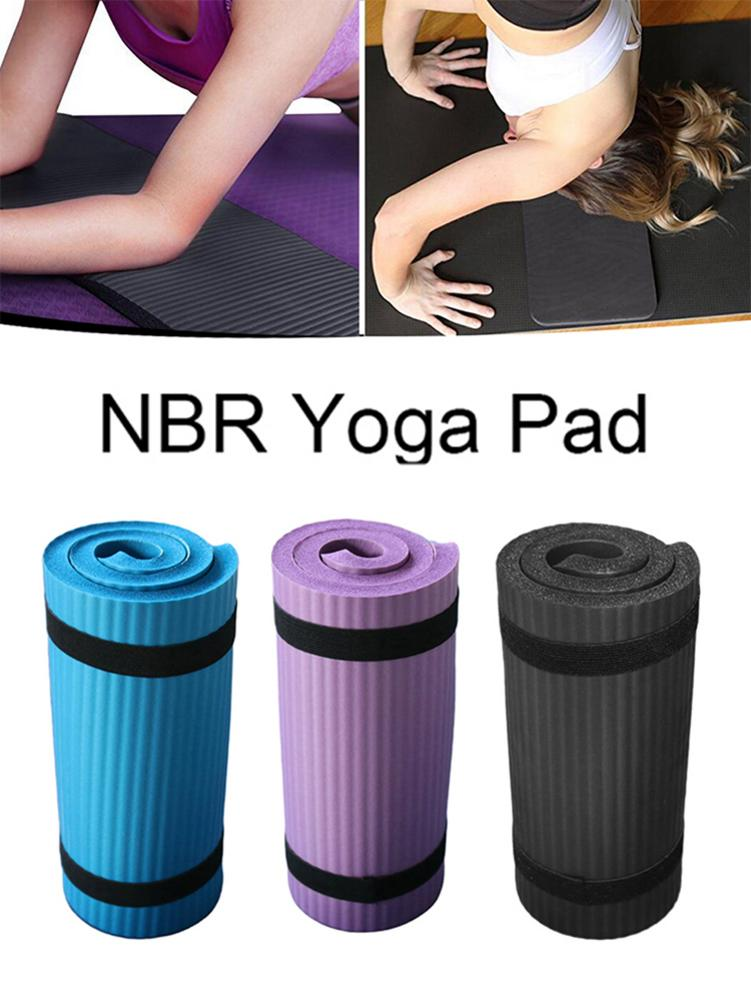 Yoga Mat Thick NBR Yoga Pad for Workout Training Abdominal Exercise 5