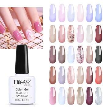 Elite99 10ml 6pcs/Lots Gel Nail Polish Set Soak Off UV LED Lamp Glitter Gel Nail Kit Nail Varnish Gel Polish Manicure Sets