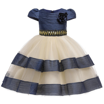 Happy New Year Clothing Kids Baby Girls Flower Lace Formal Wedding Dress Party  Prom Dress flower girls costume lace princess dress kids autumn winter clothing children new year birthday party wedding dress